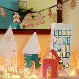 Some Christmas Making Baking and Experimenting (paper houses)