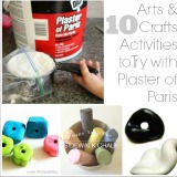 10 kids arts and crafts activities to try with plaster of paris