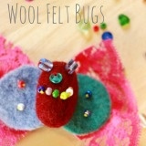 Wool Felt Bugs from an Artterro Art Kit