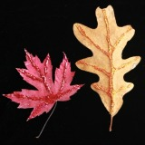 Glitter Leaves A Simply Beautiful Autumn Leaf Craft