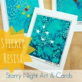 Sticker Resist Starry Night Cards