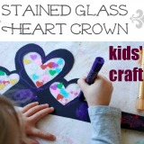 Stained glass heart crowns for valentines day